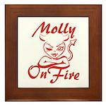 Molly On Fire Framed Tile