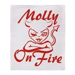 Molly On Fire Throw Blanket