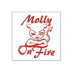 Molly On Fire Square Sticker 3