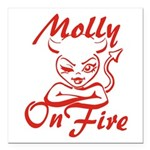 Molly On Fire Square Car Magnet 3