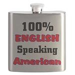 English Speaking American Flask