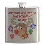 Military - Army Christmas Flask