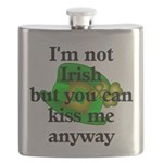 Not Irish Kiss Me Hat Flask