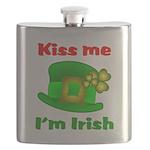Kiss Me I'm Irish Hat ver2 Flask