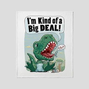 Big Deal T-Rex Throw Blanket