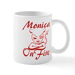 Monica On Fire Mug