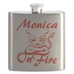 Monica On Fire Flask
