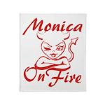 Monica On Fire Throw Blanket