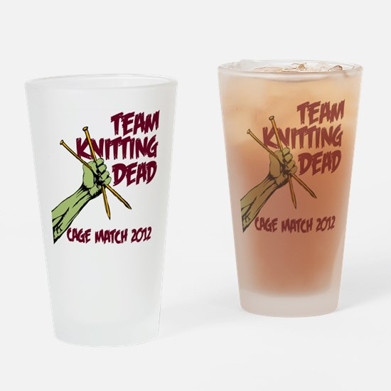 Team Knitting Dead Cage Match Drinking Glass