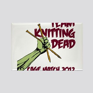 Team Knitting Dead Cage Match Rectangle Magnet