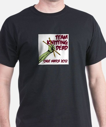 Team Knitting Dead Cage Match T-Shirt