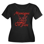 Monique On Fire Women's Plus Size Scoop Neck Dark
