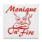 Monique On Fire Tile Coaster