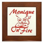 Monique On Fire Framed Tile