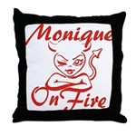 Monique On Fire Throw Pillow