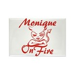 Monique On Fire Rectangle Magnet