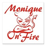 Monique On Fire Square Car Magnet 3