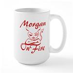 Morgan On Fire Large Mug