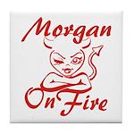 Morgan On Fire Tile Coaster