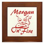 Morgan On Fire Framed Tile