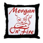 Morgan On Fire Throw Pillow