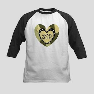ARMY MOM CAMOUFLAGE HEART Kids Baseball Jersey