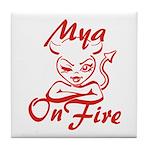 Mya On Fire Tile Coaster