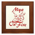 Mya On Fire Framed Tile