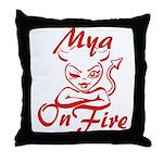 Mya On Fire Throw Pillow