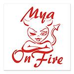 Mya On Fire Square Car Magnet 3