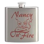 Nancy On Fire Flask