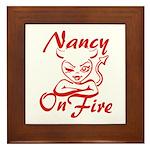 Nancy On Fire Framed Tile