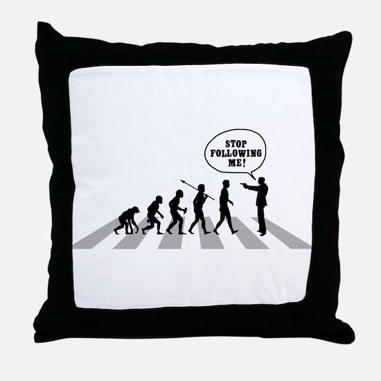 Stop Following Me! Throw Pillow