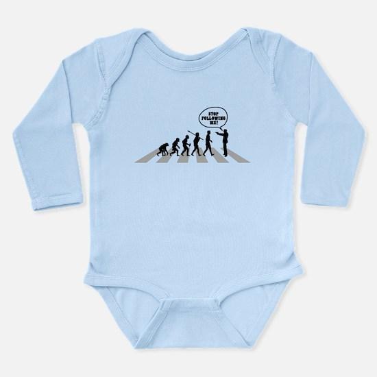 Stop Following Me! Long Sleeve Infant Bodysuit