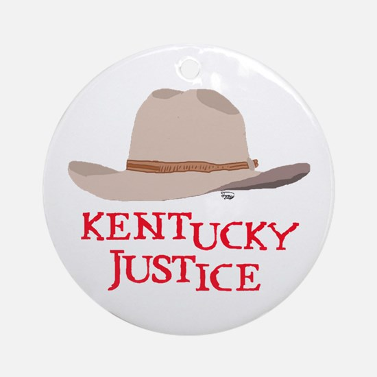 Kentucky Justice Ornament (Round)