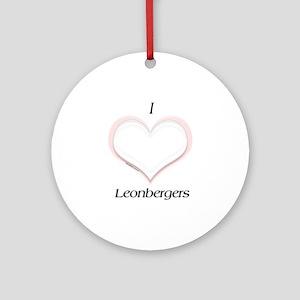 Leonberger Heart Ornament (Round)