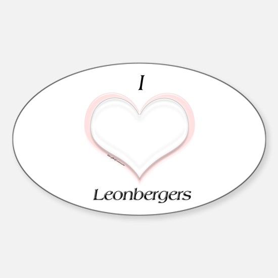 Leonberger Heart Oval Decal