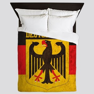 Grunge Germany Flag Queen Duvet
