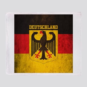 Grunge Germany Flag Throw Blanket