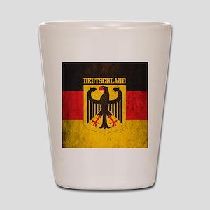Grunge Germany Flag Shot Glass