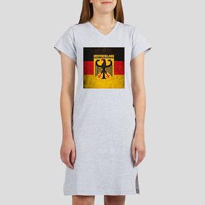 Grunge Germany Flag Women's Nightshirt