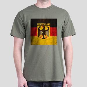 Grunge Germany Flag Dark T-Shirt