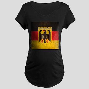 Grunge Germany Flag Maternity Dark T-Shirt