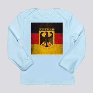 Grunge Germany Flag Long Sleeve Infant T-Shirt