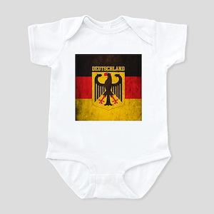Grunge Germany Flag Infant Bodysuit