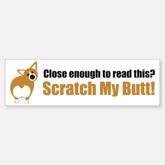 Scratch My Butt Corgi Sticker (Bumper)