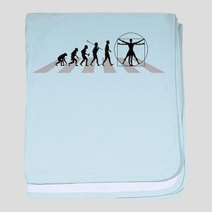 Vitruvian Man baby blanket