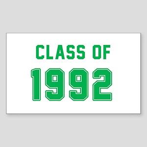 Class of 1992 Green Sticker