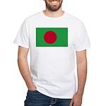 Bangladesh Flag White T-Shirt