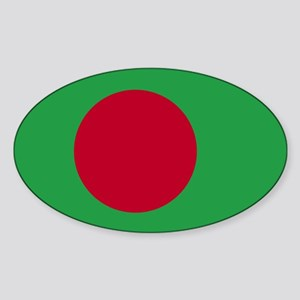 Bangladesh Flag Oval Sticker